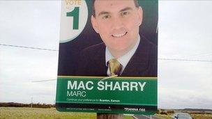 Fianna Fail election poster for Marc MacSharry (17 Feb 2011)