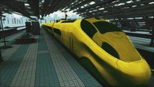Artist impression HS2 train