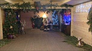 Santa's grotto at the attraction