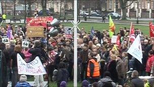 Protest in Bristol