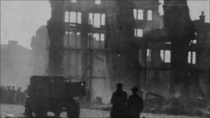 Bomb devastation in Swansea