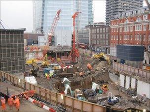 """Baby Shard"" construction site at London Bridge"