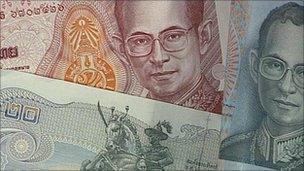 Thai bank notes