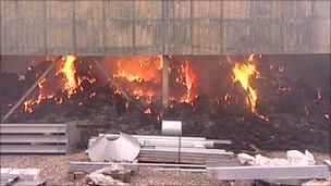 Barnard Castle farm fire