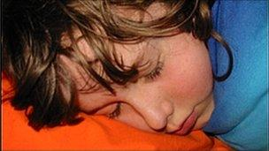 Young person sleeping