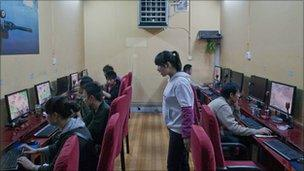File image of an internet cafe in Kunming, China, on 1 April 2010