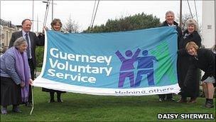 Guernsey Voluntary Service flag