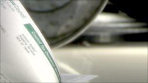 Council tax demand letter