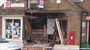Lenwade post office partly demolished