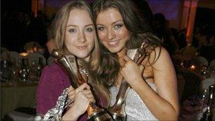 Saoirse Ronan and Sarah Bolger