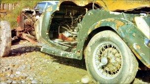 The MG before it was restored