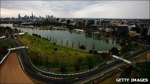 Albert Park Circuit on 28 March 2010 in Melbourne