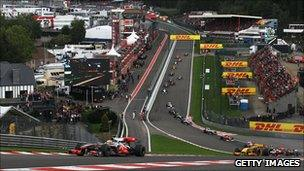Spa Francorchamps F1 circuit, Belgium Grand Prix 2010