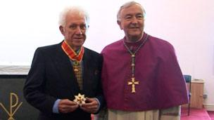 Albert Gubay and the Archbishop of Westminster, Vincent Nichols