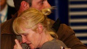 Woman meets evacuated man at Gatwick