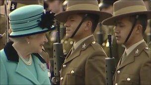 The Queen meets Gurkha engineers