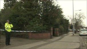 Police in Carholme Road