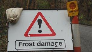Frost damage sign