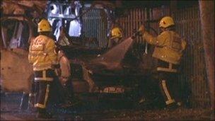 Van explosion in Leeds