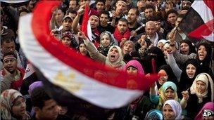 Protesters in Tahrir Square, Cairo, Egypt, 25 September 2011