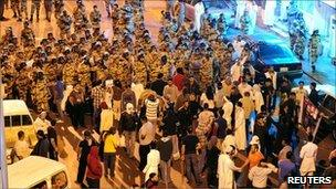 Protests in Awwamiya, eastern Saudi Arabia, 3 March