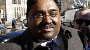 Mr Rajaratnam was met by photographers and camera crews at court