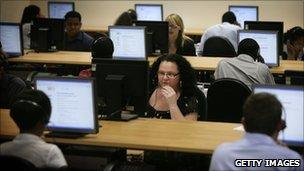 People working in a call centre