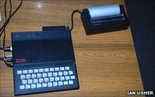 ZX81 with thermal printer