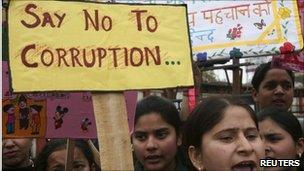 Anti-corruption protest in Jammu in February 2011