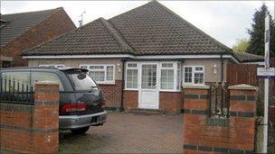 House belonging to Saeeda Khan, 68, of Whitmore Road, Harrow,