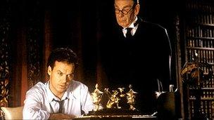 Michael Keaton and Michael Gough in Batman