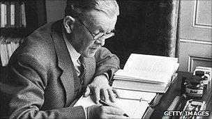 Robert Bruce Lockhart writing at his desk
