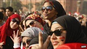Women in Tahrir Square, 12 February