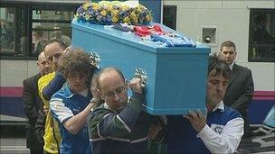 Funeral of Huw Thatcher