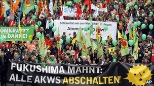 Anti-nuclear marches in Cologne, 26 March 2011