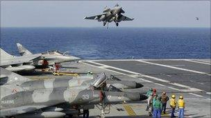 France's Charles de Gaulle aircraft carrier, 27 March