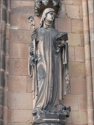 Saint Werburgh - on Lichfield Cathedral