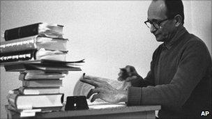 Adolf Eichmann in jail in Israel in 1961