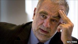 ICC Chief Prosecutor Luis Moreno-Ocampo in the Hague, 5 April