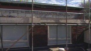 Damage at Sacred Heart primary school