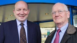David Kerr and Alan Price at Inverness Airport