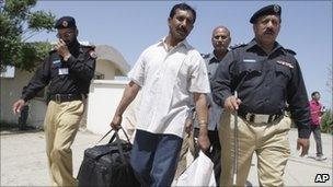 Gopal Das leaves prison in Pakistan