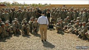 US Defence Secretary Robert Gates in Iraq