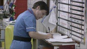 nurse filling in forms generic