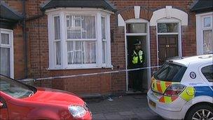 Scene of the incident in Handsworth