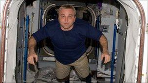 Maxim Surayev aboard the ISS