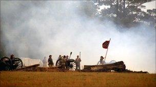 Cannons boom near Charleston, South Carolina