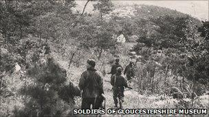 Glosters on patrol in South Korea