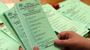 Australian polling card