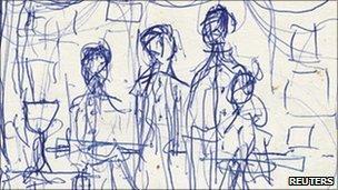 Sketch on Lennon lyric
